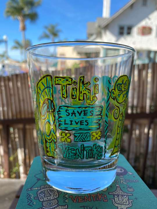 Tiki Saves Lives Tumbler (green) $16 Tax included