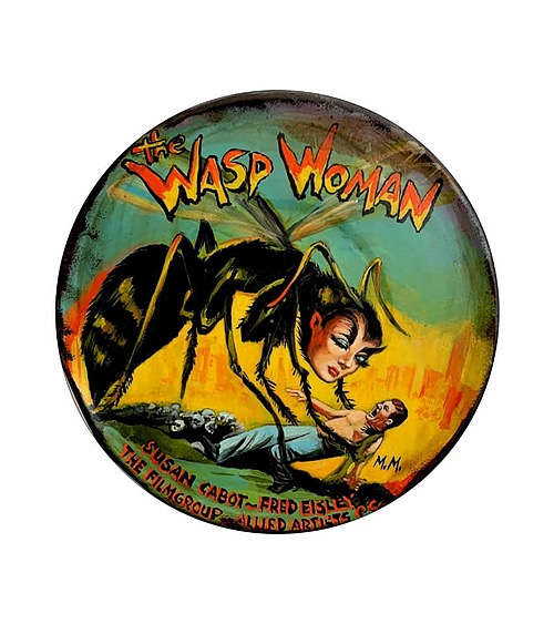 """""""The Wasp Woman"""" Tin Sign from Manes Marzano"""