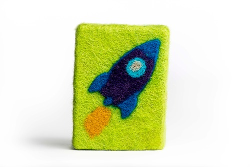 Felted Rocket Soap
