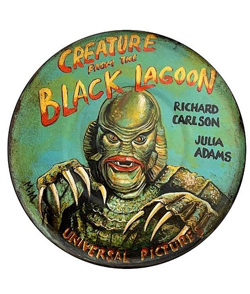 """""""Creature from the Black Lagoon"""" Tin Sign of Horror, Sci-Fi, and Classic Movies Art from Manes Marzano"""