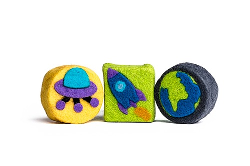 Felted Space Soap Set