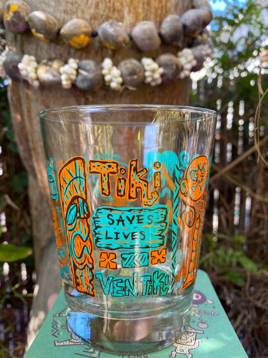 Tiki Saves Lives Tumbler (orange) $16 Tax included