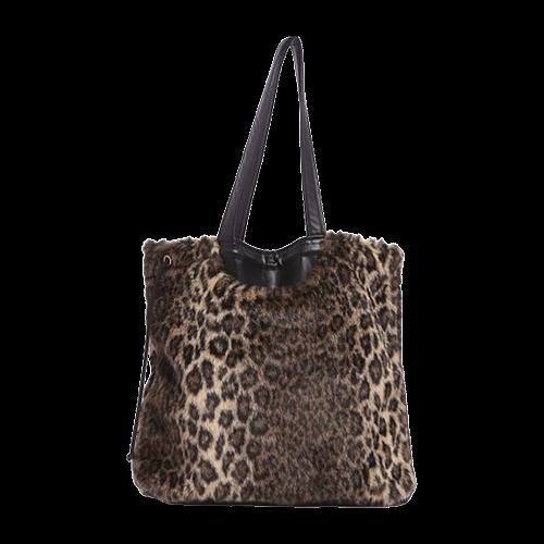 Leopard Faux Fur Shoelugg