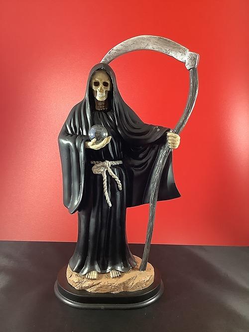 Statue Santa Muerte Black