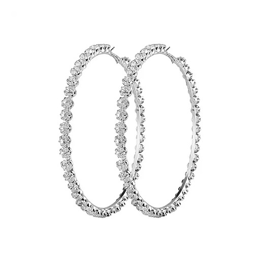 Rihanna Diamond Hoops Earrings