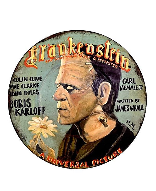 """""""Frankenstein"""" Tin Sign Classic Art from Manes Marzano"""
