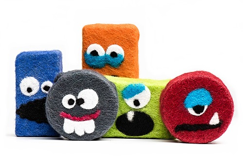 Virtual - Felted Monster Soap Class (6 and Up) - 4/16 from 1-3 PM (MDT)