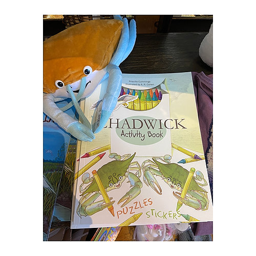 Chadwick Activity Book & Toy Crab