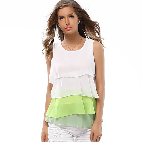 Irregular fashion sleeveless