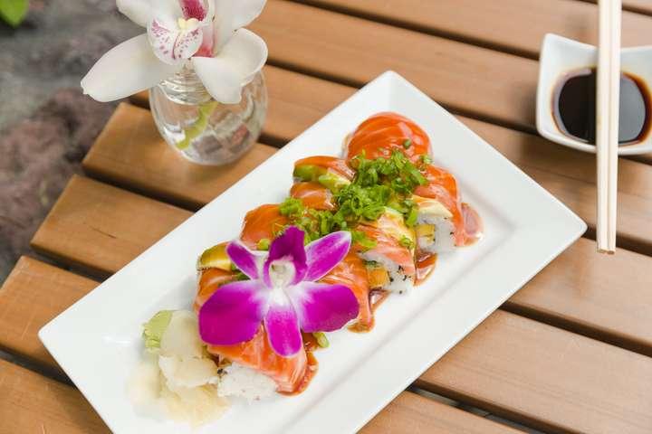 Kraken Tiki Salmon Roll $15