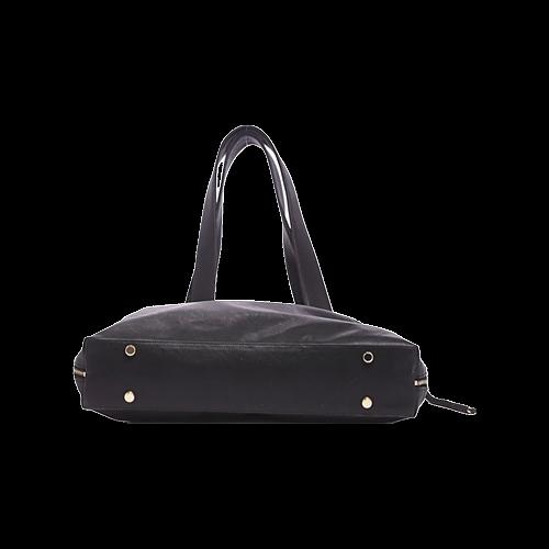 Black Vegan Leather Shoelugg