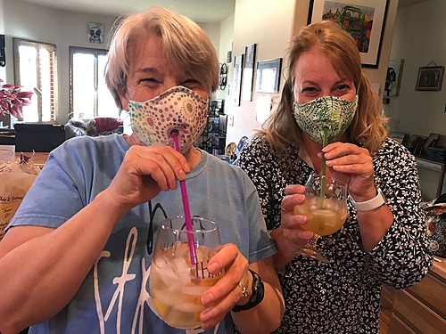 Face Mask with Drinking Straw Opening  - Women/Teen
