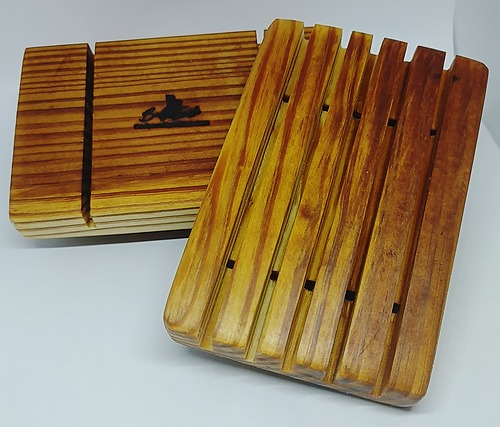 B&E Reclaimed Hard Pine soap caddy