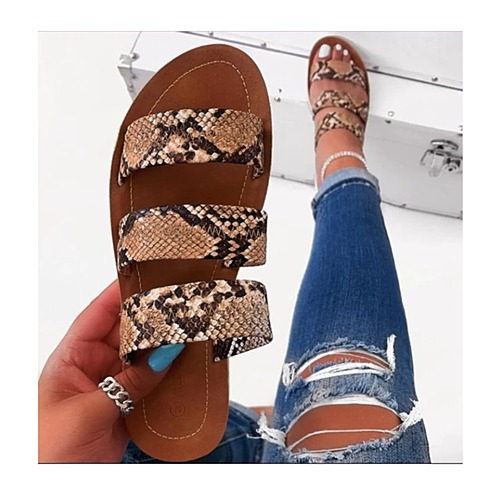 Get That Snake Print Slippers