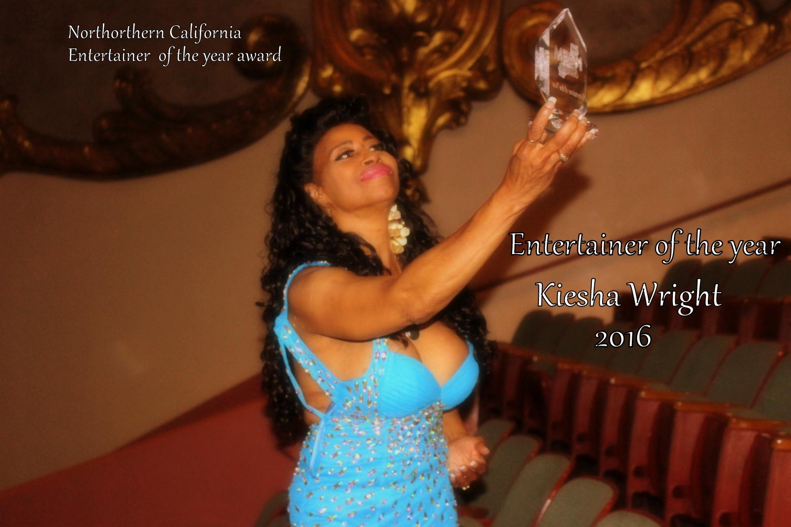 kiesha wright, entertainer of the year, NCEM AWARD