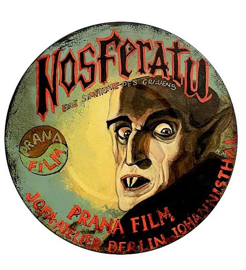 """""""Nosferatu #2"""" Tin Sign of Horror, Sci-Fi, and Classic Movies Art from Manes"""