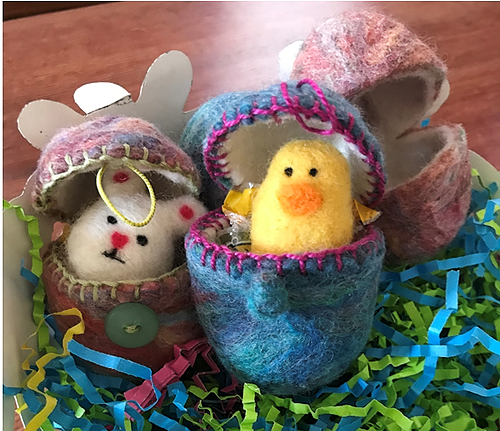 Virtual - Wet Felted Easter Egg Class -  4/8 & 4/10 from 10-11 AM (MDT)