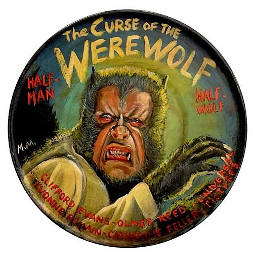 """""""The Curse of the Werewolf""""  Tin Sign  Classic Art from Manes Marzano"""