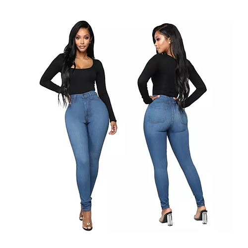 Under The Moon High Waist Denim Pants