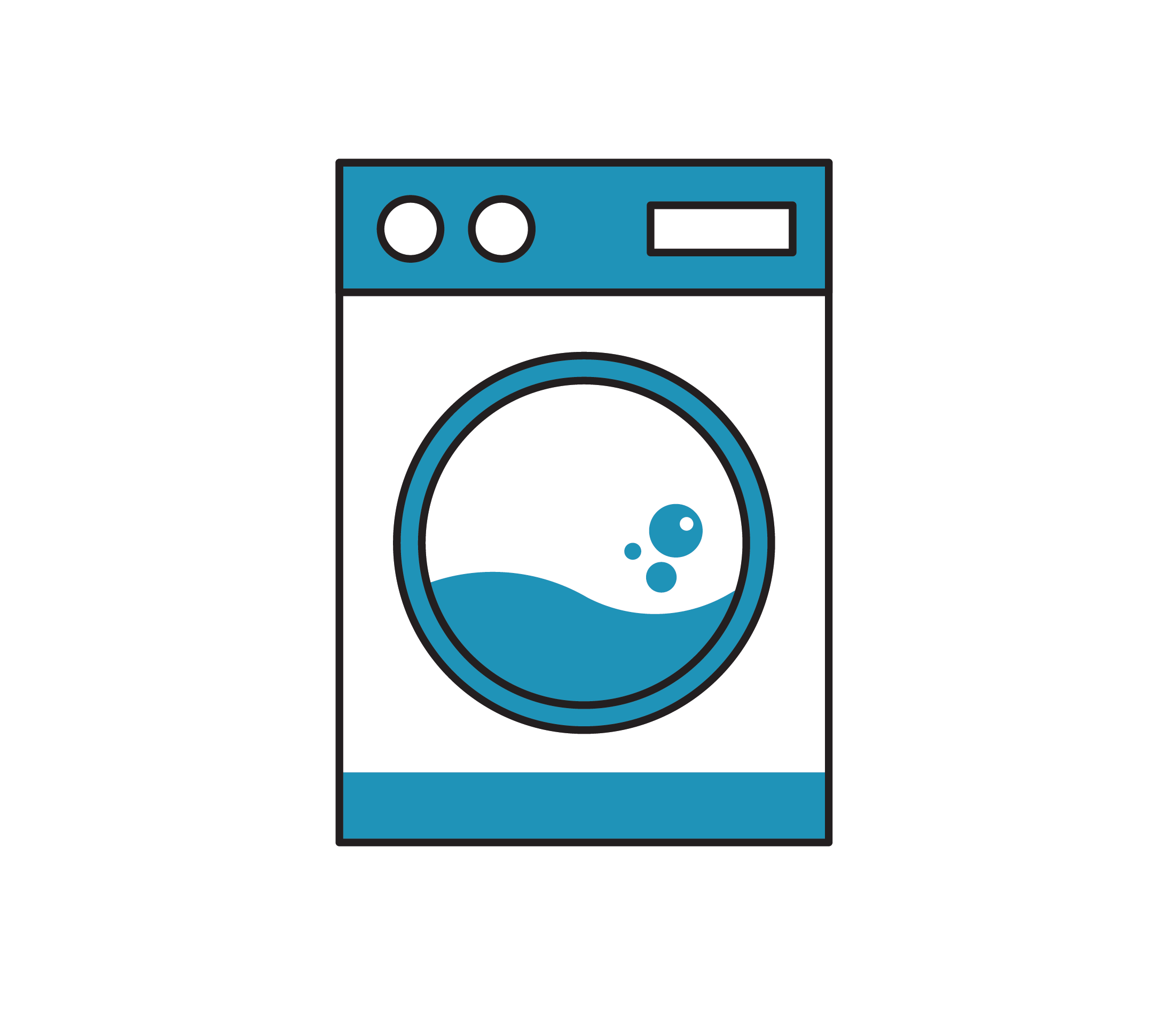 Laundry services use high quality cleaning materials.