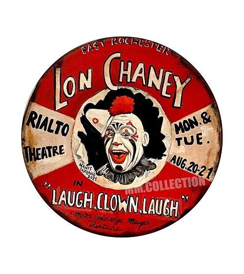 "Lon Chaney"" Laugh,Clown,Laugh"" Tin Sign"