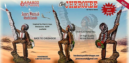 Chief Cherokee  Limited Edition Tribute to  the Johnny West MARX Toys in Miniature Figure