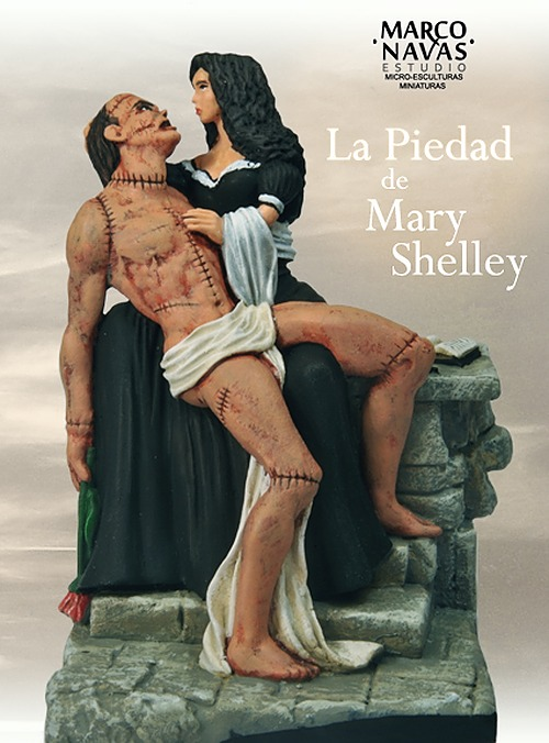 Mary Shelley and her Creature