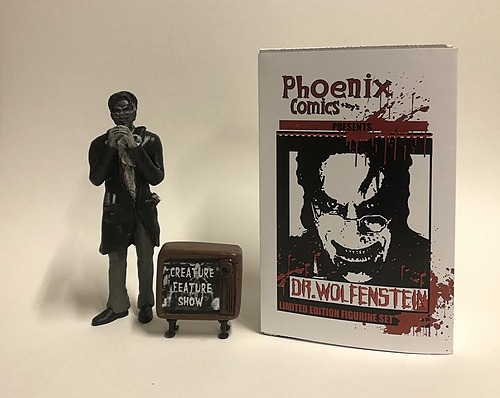 Dr.Wolfenstein Figurine set with Autographed Certificate of Authenticity