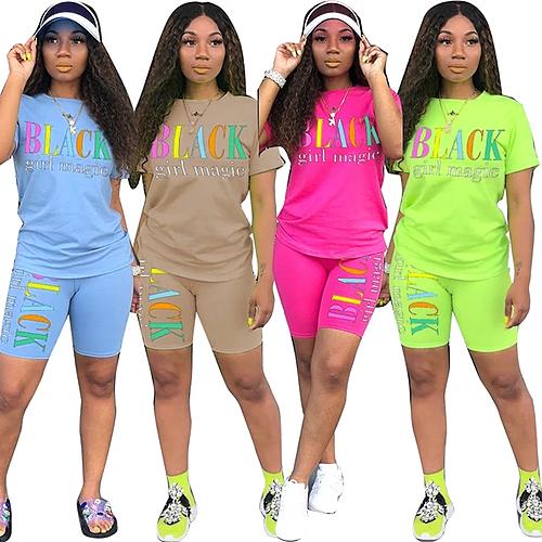 Black girl magic biker shorts set