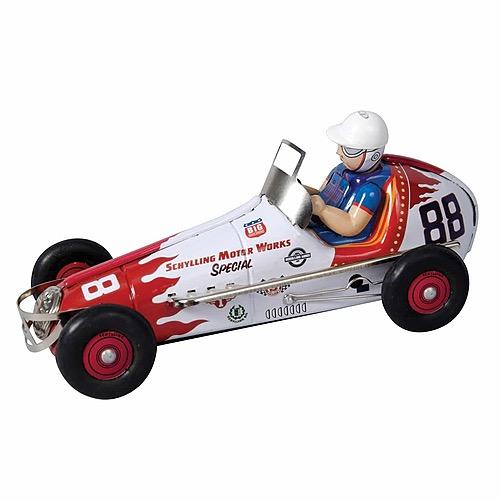 Wind-Up Tin Race Car