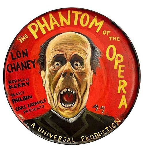 """"""" The Phantom of the Opera"""" Tin Sign of Horror, Sci-Fi, and Classic Movies Art from Manes"""