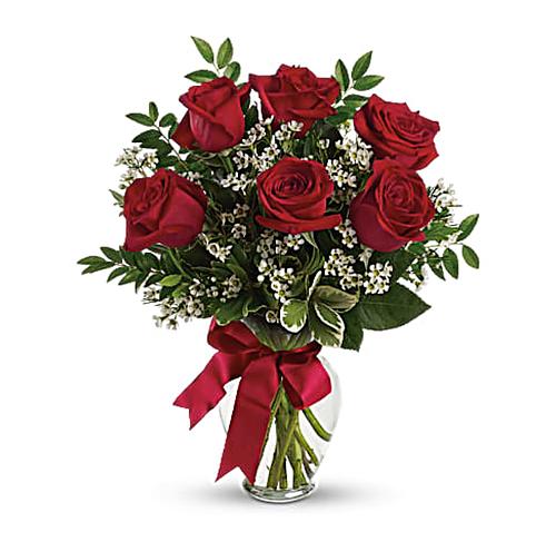 ½ Dozen Roses Bouquet