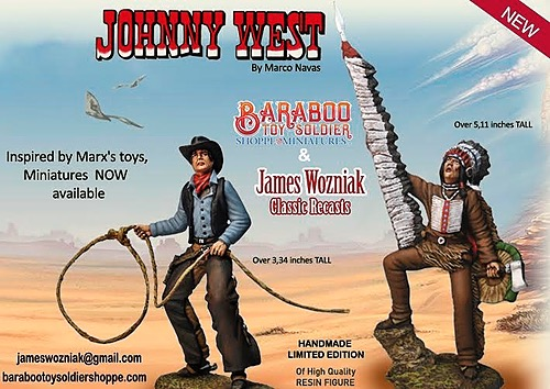 Johnny West  Limited Edition Tribute to MARX Toys in Miniature Figure