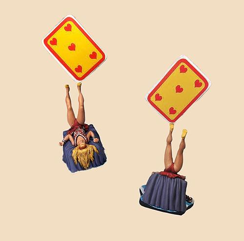 Antipodiste, also known as Foot Juggler, balancing  a card