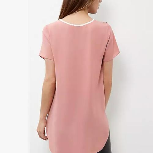 Macy chiffon t-shirt