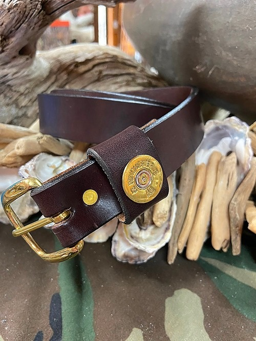 Gun Shot Shell Leather Belt